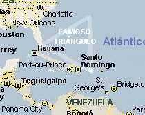 mapa del triangulo de las bermudas
