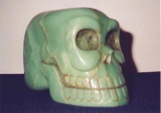 calavera de cristal de cuarzo