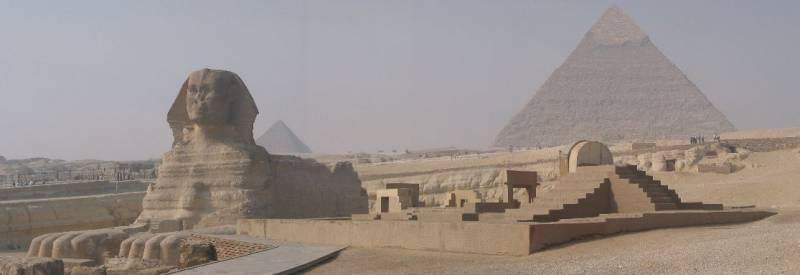 vista de la meseta de Gizeh