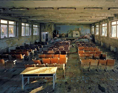 Escuela abandonada en Pripyat