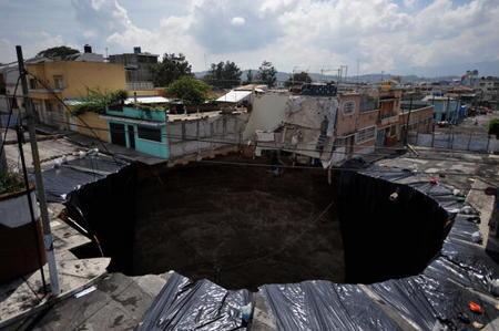 Extraño hoyo en Guatemala