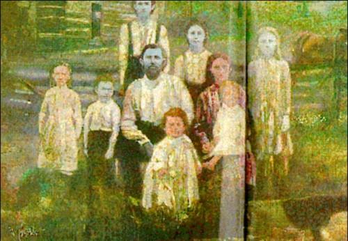 La misteriosa familia de piel azul