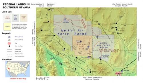Mapa del Area 51