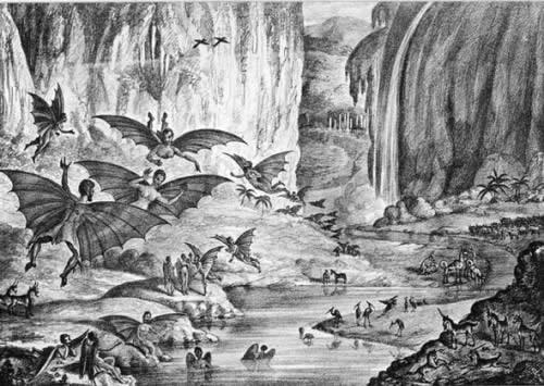 Vespertilio-homo - Tribu primitiva de humanoides peludos y alados