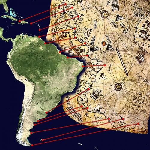 Interpretacion del mapa de Piri Reis