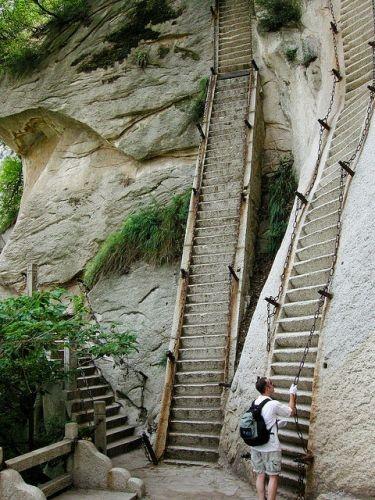 Las escaleras al cielo Monte del Esplendor - China