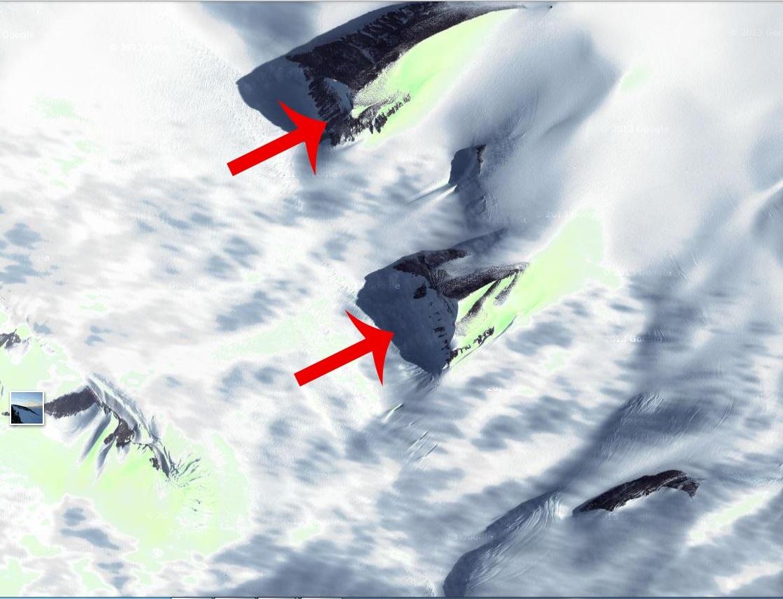 Fotos satelitales de las supuestas pirámides de la Antártida  Las Tinieblas ...