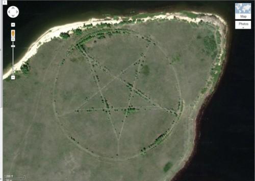 pentagrama en el desierto