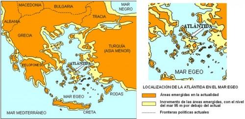 Localizacion de la Atlantida en el Mar Egeo