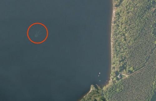 Nessie capturado por satelite
