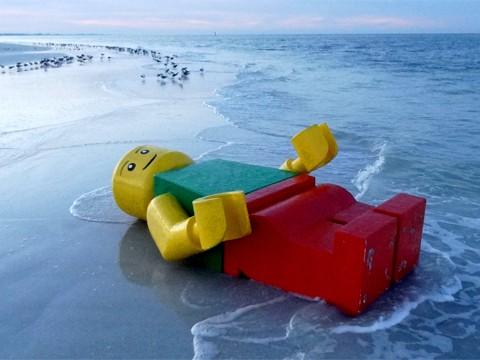 La playa de los legos perdidos