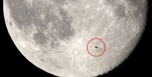 Ovni en la superluna