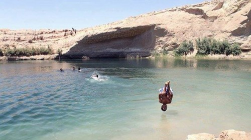 misterioso lago aparece en tunez