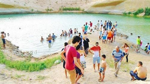 misterioso lago aparecido en tunez