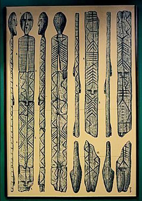 Dibujo de todos los ángulos y características principales del ídolo.