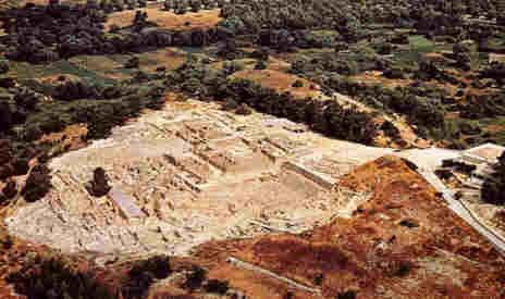 Palacio de Festos, en Creta. Lugar donde se descubrió el disco de Festos.