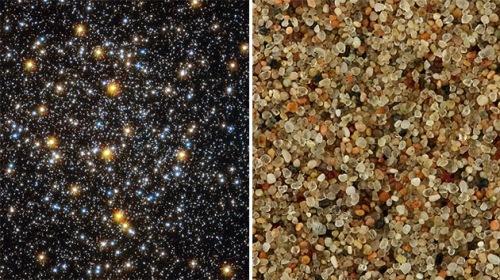 En el cielo hay más estrellas que granos de arena en todas las playas