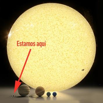 Los planetas en comparación con el Sol