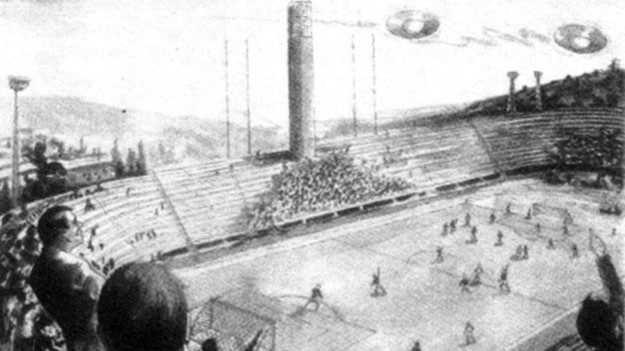 El ovni que suspendió un partido de futbol